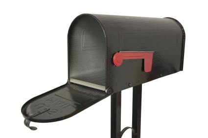 black-old-style-mailbox